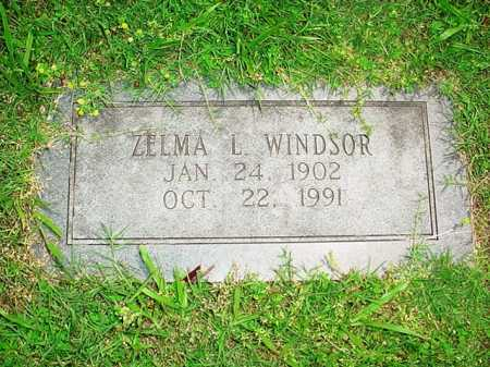 WINDSOR, ZELMA L. - Benton County, Arkansas | ZELMA L. WINDSOR - Arkansas Gravestone Photos