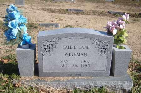 WISEMAN, CALLIE JANE - Benton County, Arkansas | CALLIE JANE WISEMAN - Arkansas Gravestone Photos