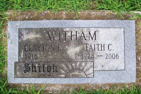 CLOUGH WITHAM, FAITLH - Benton County, Arkansas | FAITLH CLOUGH WITHAM - Arkansas Gravestone Photos