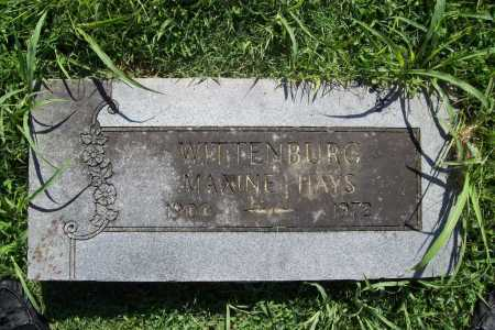 WITTENBURG, MAXINE - Benton County, Arkansas | MAXINE WITTENBURG - Arkansas Gravestone Photos