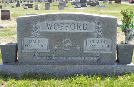 WOFFORD, MACIE - Benton County, Arkansas | MACIE WOFFORD - Arkansas Gravestone Photos