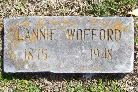 WOFFORD, LANNIE - Benton County, Arkansas | LANNIE WOFFORD - Arkansas Gravestone Photos