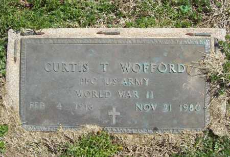 WOFFORD (VETERAN WWII), CURTIS T - Benton County, Arkansas | CURTIS T WOFFORD (VETERAN WWII) - Arkansas Gravestone Photos