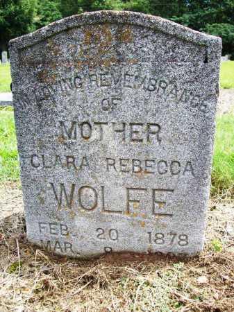 WOLFE, CLARA REBECCA - Benton County, Arkansas | CLARA REBECCA WOLFE - Arkansas Gravestone Photos