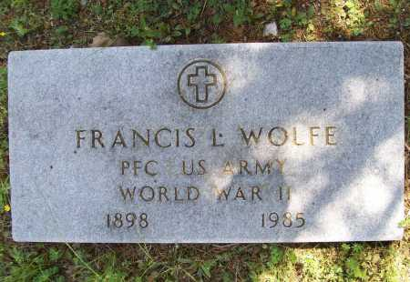 WOLFE (VETERAN WWII), FRANCIS L. - Benton County, Arkansas | FRANCIS L. WOLFE (VETERAN WWII) - Arkansas Gravestone Photos