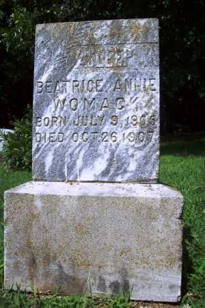 WOMACK, BEATRICE ANNIE - Benton County, Arkansas | BEATRICE ANNIE WOMACK - Arkansas Gravestone Photos