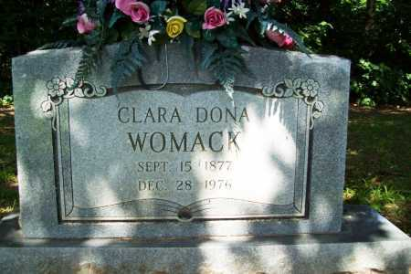 HOLLAND WOMACK, CLARA DONA - Benton County, Arkansas | CLARA DONA HOLLAND WOMACK - Arkansas Gravestone Photos