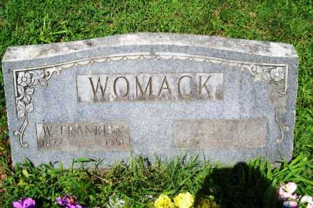 WOMACK, W. FRANKLIN - Benton County, Arkansas | W. FRANKLIN WOMACK - Arkansas Gravestone Photos
