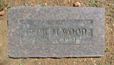 WOOD, CECIL M. - Benton County, Arkansas | CECIL M. WOOD - Arkansas Gravestone Photos
