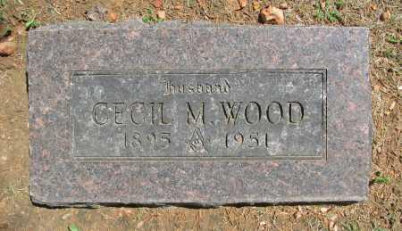 WOOD, CECIL M. - Benton County, Arkansas | CECIL M. WOOD - Arkansas Gravestone Photos