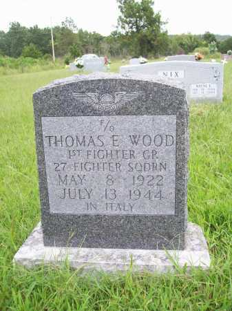 WOOD (VETERAN WWII), THOMAS E. - Benton County, Arkansas | THOMAS E. WOOD (VETERAN WWII) - Arkansas Gravestone Photos