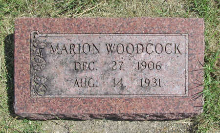 WOODCOCK, MARION - Benton County, Arkansas | MARION WOODCOCK - Arkansas Gravestone Photos