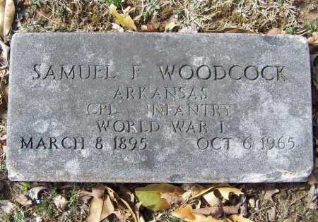 WOODCOCK (VETERAN WWI), SAMUEL F - Benton County, Arkansas | SAMUEL F WOODCOCK (VETERAN WWI) - Arkansas Gravestone Photos