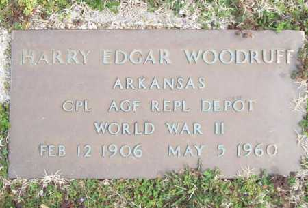 WOODRUFF (VETERAN WWII), HARRY EDGAR - Benton County, Arkansas | HARRY EDGAR WOODRUFF (VETERAN WWII) - Arkansas Gravestone Photos