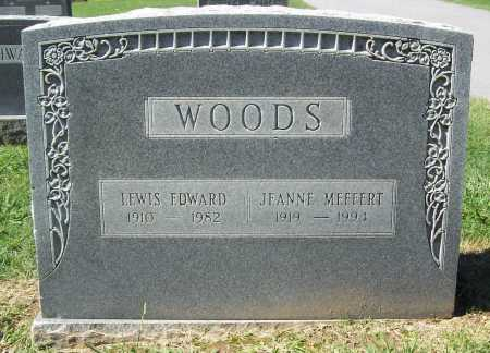 MEFFERT WOODS, JEANNE - Benton County, Arkansas | JEANNE MEFFERT WOODS - Arkansas Gravestone Photos