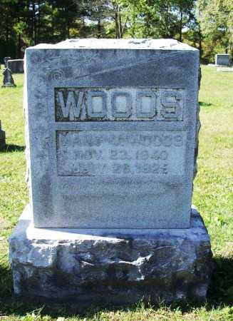 WOODS, MARY V. - Benton County, Arkansas | MARY V. WOODS - Arkansas Gravestone Photos