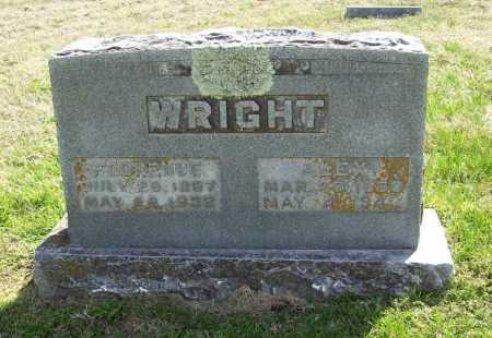 STANLEY WRIGHT, FLORENCE - Benton County, Arkansas | FLORENCE STANLEY WRIGHT - Arkansas Gravestone Photos