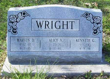 WRIGHT, ALICE V. - Benton County, Arkansas | ALICE V. WRIGHT - Arkansas Gravestone Photos