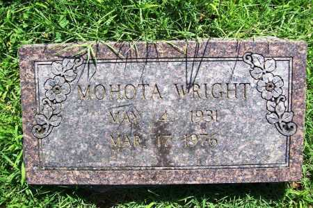 WRIGHT, MOHOTA - Benton County, Arkansas | MOHOTA WRIGHT - Arkansas Gravestone Photos