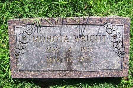 WRIGHT, MOHOTA - Benton County, Arkansas | MOHOTA WRIGHT - Arkansas Gravestone Photos