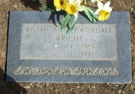CROXDALE WRIGHT, RUTH ANN - Benton County, Arkansas | RUTH ANN CROXDALE WRIGHT - Arkansas Gravestone Photos