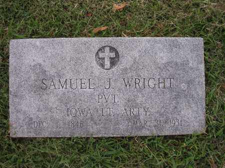 WRIGHT (VETERAN UNION), SAMUEL JAMESON - Benton County, Arkansas | SAMUEL JAMESON WRIGHT (VETERAN UNION) - Arkansas Gravestone Photos