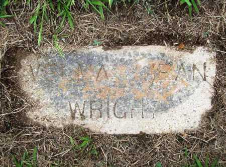 WRIGHT, VELMA JEAN - Benton County, Arkansas | VELMA JEAN WRIGHT - Arkansas Gravestone Photos