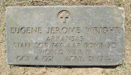 WRIGHT (VETERAN WWII KIA), EUGENE JEROME - Benton County, Arkansas | EUGENE JEROME WRIGHT (VETERAN WWII KIA) - Arkansas Gravestone Photos