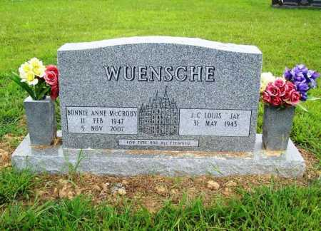 WUENSCHE, BONNIE ANNE - Benton County, Arkansas | BONNIE ANNE WUENSCHE - Arkansas Gravestone Photos