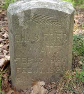 WYATT, CHARLES FRED - Benton County, Arkansas | CHARLES FRED WYATT - Arkansas Gravestone Photos