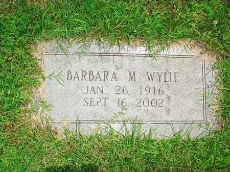 WYLIE, BARBARA M. - Benton County, Arkansas | BARBARA M. WYLIE - Arkansas Gravestone Photos
