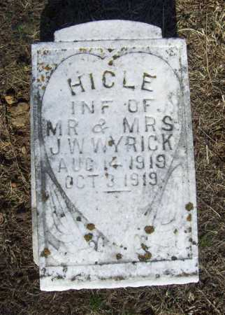 WYRICK, HICLE - Benton County, Arkansas | HICLE WYRICK - Arkansas Gravestone Photos