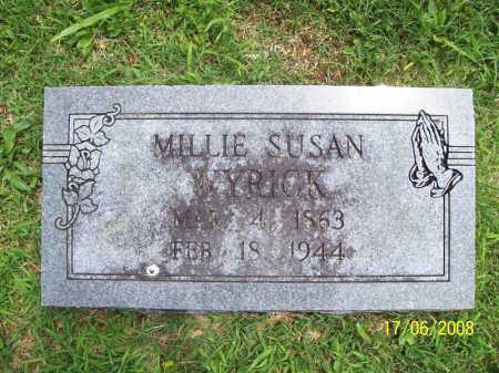 WYRICK, MILLIE SUSAN - Benton County, Arkansas | MILLIE SUSAN WYRICK - Arkansas Gravestone Photos