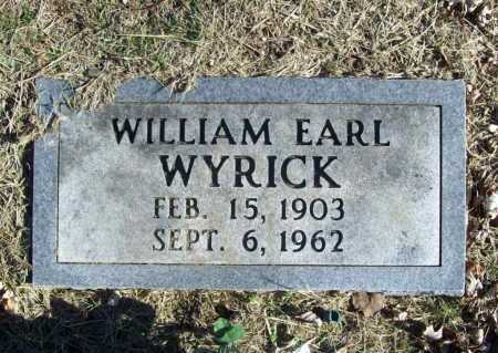 WYRICK, WILLIAM EARL - Benton County, Arkansas | WILLIAM EARL WYRICK - Arkansas Gravestone Photos