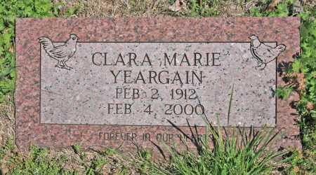 YEARGAIN, CLARA MARIE - Benton County, Arkansas | CLARA MARIE YEARGAIN - Arkansas Gravestone Photos