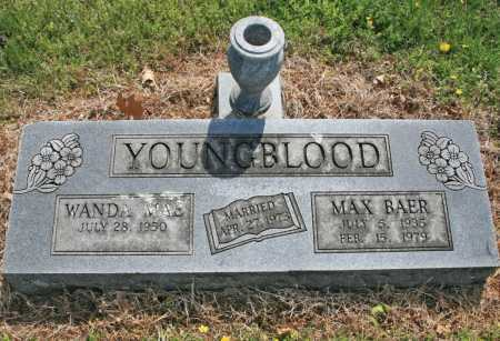 YOUNGBLOOD, MAX BAER - Benton County, Arkansas | MAX BAER YOUNGBLOOD - Arkansas Gravestone Photos