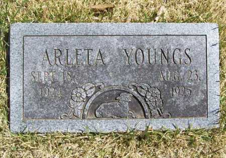 YOUNGS, ARLETA - Benton County, Arkansas | ARLETA YOUNGS - Arkansas Gravestone Photos