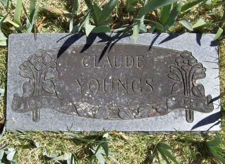 YOUNGS, CLAUDE - Benton County, Arkansas | CLAUDE YOUNGS - Arkansas Gravestone Photos
