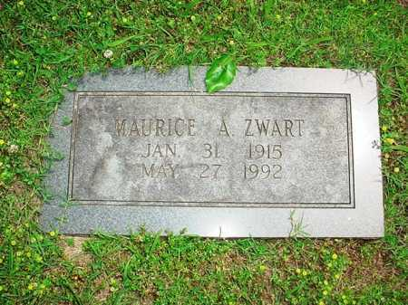 ZWART, MAURICE A. - Benton County, Arkansas | MAURICE A. ZWART - Arkansas Gravestone Photos
