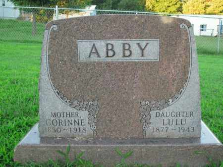 ABBY, LULU - Boone County, Arkansas | LULU ABBY - Arkansas Gravestone Photos
