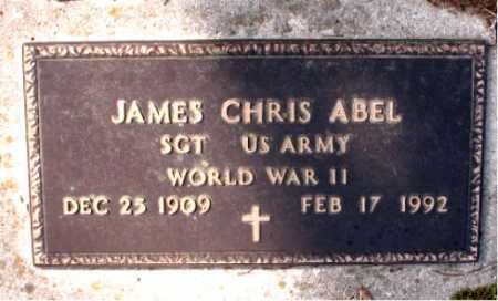 ABEL  (VETERAN WWII), JAMES CHRIS - Boone County, Arkansas | JAMES CHRIS ABEL  (VETERAN WWII) - Arkansas Gravestone Photos