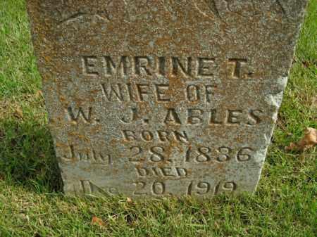 ABLES, EMRINE T. - Boone County, Arkansas | EMRINE T. ABLES - Arkansas Gravestone Photos
