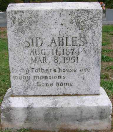 ABLES, SID - Boone County, Arkansas | SID ABLES - Arkansas Gravestone Photos