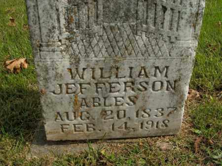 ABLES, WILLIAM JEFFERSON - Boone County, Arkansas | WILLIAM JEFFERSON ABLES - Arkansas Gravestone Photos