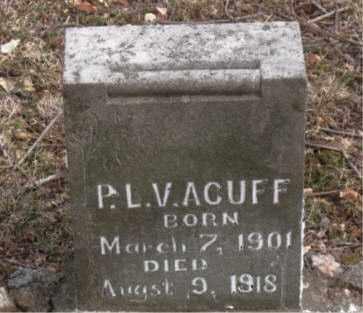 ACUFF, P. L. V. - Boone County, Arkansas | P. L. V. ACUFF - Arkansas Gravestone Photos