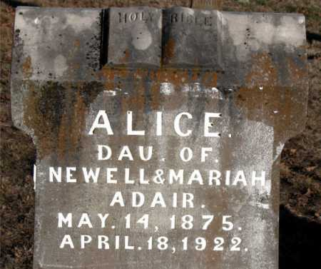 ADAIR, ALICE - Boone County, Arkansas | ALICE ADAIR - Arkansas Gravestone Photos