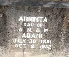 ADAIR, ARMINTA - Boone County, Arkansas | ARMINTA ADAIR - Arkansas Gravestone Photos