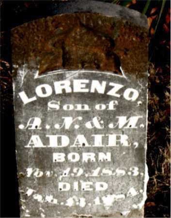ADAIR, LORENZO - Boone County, Arkansas | LORENZO ADAIR - Arkansas Gravestone Photos