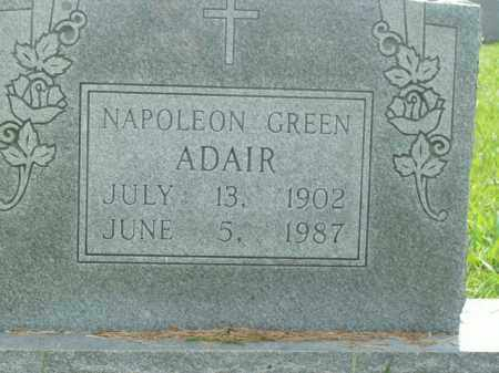 ADAIR, NAPOLEON GREEN - Boone County, Arkansas | NAPOLEON GREEN ADAIR - Arkansas Gravestone Photos