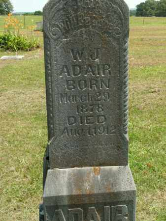 ADAIR, W. J. - Boone County, Arkansas | W. J. ADAIR - Arkansas Gravestone Photos